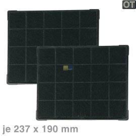 TOP Fettfilter für Dunstabzugshaube eckig Metall 430 x 147 mm